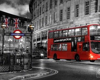 London Double-Decker Bus - Unframed Photo Print - 3 Sizes Available