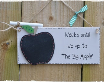 Holiday Countdown Chalkboard Plaque