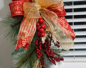 Christmas Swag Hold Back Curtain Swag Quot Merry Christmas