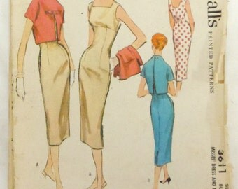 1956 McCall's misses dress with bolero jacket
