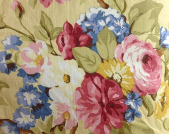 Cheerful Flower Garden Fabric - Drapery Fabric By The Yard - Pillow Fabric - Upholstery Fabric - Bedding Fabric