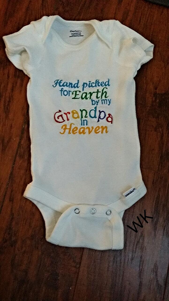 Baby Onesie Hand Picked For Earth Shirt Rainbow By