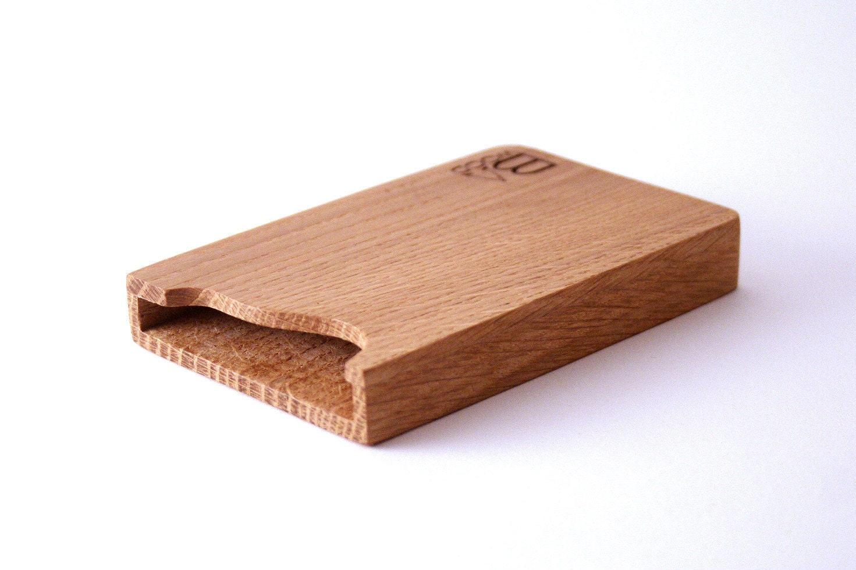 Custom Engraved Wooden Business Card Holder