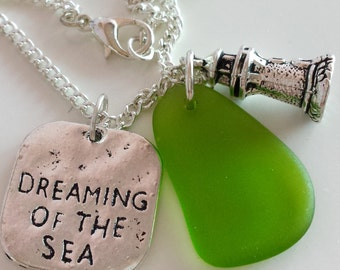 ON SALES: Sea Glass Necklace.