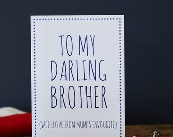 Darling Brother card