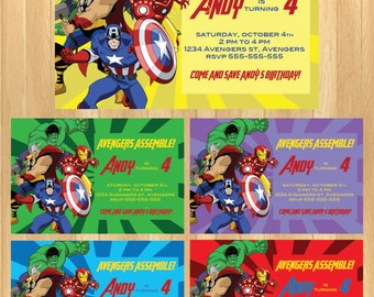 CUSTOMIZED - Avengers Invitation