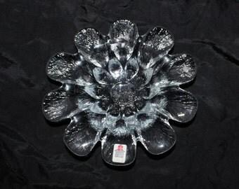 """Lovely vintage retro Glass bowl, model """"Multi"""". Designed by Sidse Werner 1979, Holmegaard, Denmark Scandinavian"""