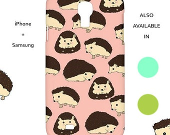 Hedgehog iphone case,hedgehog,animal,forest,sweet,kawaii,cute,fox,bear,iphone case,samsung,iphone 6,s5,iphone 5,mint,pink,green,galaxy s5,6