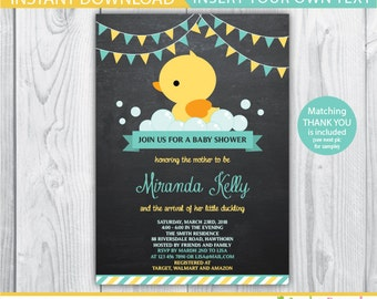 duck baby shower invitation / duck baby shower invites / rubber duck baby shower invite / duck invitation / rubber duck invitation / INSTANT