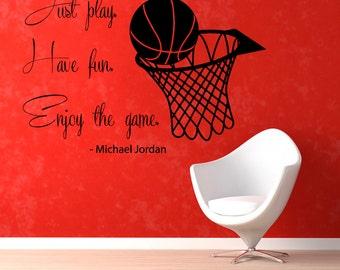 Basketball Wall Decals Basketball Player Sport Gym Wall Decor Decal Vinyl Sticker Home Decor Vinyl Art Wall Decor Nursery Room Decor KG290