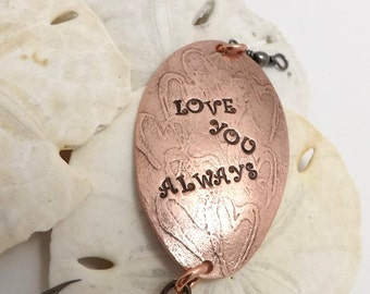 Copper Lure, Love You Always, Valentine's Day, Anniversary, Birthday gifts for Him, fishing custom lures