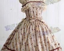 Sweet Rococo Lolita JSK & Embroidery Ruffle Bustle*Ivory Lady 70 Free Express Shipping