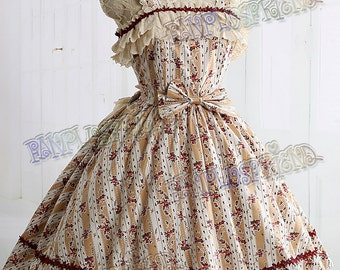 Exclusive Designer Fashion, Neo-ludwig Sweet Rococo Lolita JSK & Embroidery Ruffle Bustle*Ivory