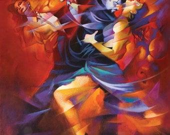 Red Tango by Hendrick Gil - Canvas Art Print (20x25)