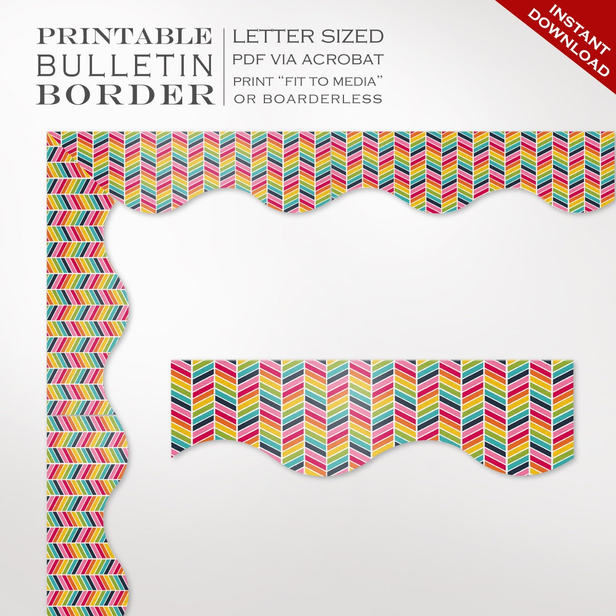 Influential image in printable bulletin board borders