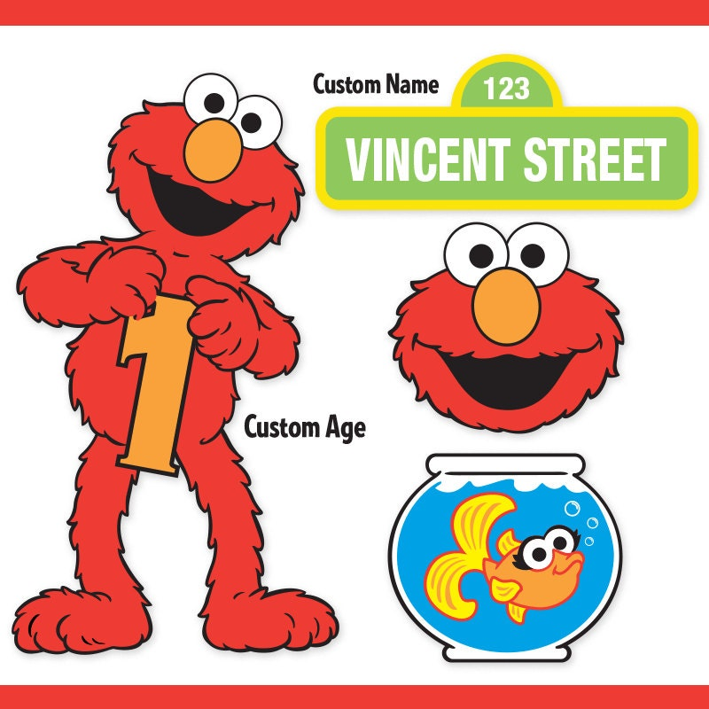 printable elmo cake template - custom printable sesame street elmo centerpiece displays