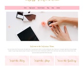 "Premade Wordpress Website Theme ""Valentina"" - Responsive Self-Hosted Wordpress Website and Blog Theme"