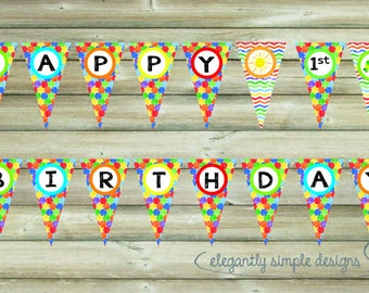 INSTANT DOWNLOAD - Printable Hungry Caterpillar Happy Birthday Banner