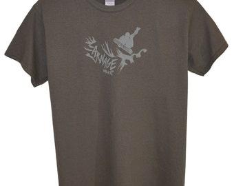 Carnage Snowboard T-Shirt.  Charcoal.