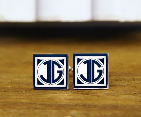 1920s style, custom monogrammed initials cufflinks, personalized cufflinks, groom gifts, custom wedding cufflinks, tie clips or set