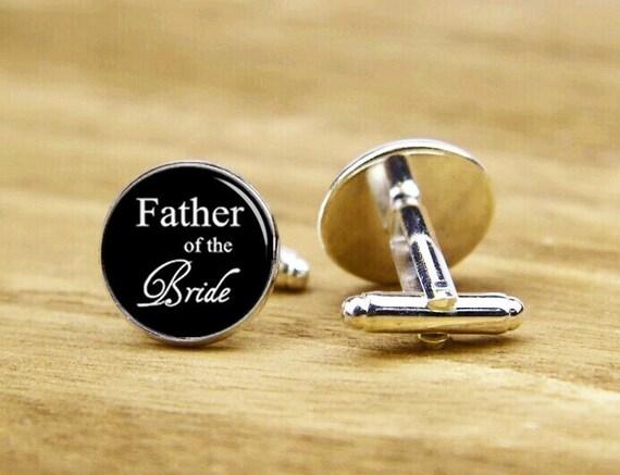 father of the bride cufflinks, father of the groom cufflinks, custom wedding cufflinks, round, square cufflinks, tie clip or a matching set