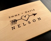 Valentines Day Gift, Engraved Cutting Board, Personalized Wedding Gift, Custom Anniversary Gift, Engagement Gift, Bridal Shower Gift, Decor