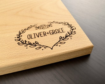 Engraved Wood Cutting Board, Personalized Wedding Gift, Anniversary Gift, Custom Engagement Gift, Valentines Day Gift, Housewarming Gift