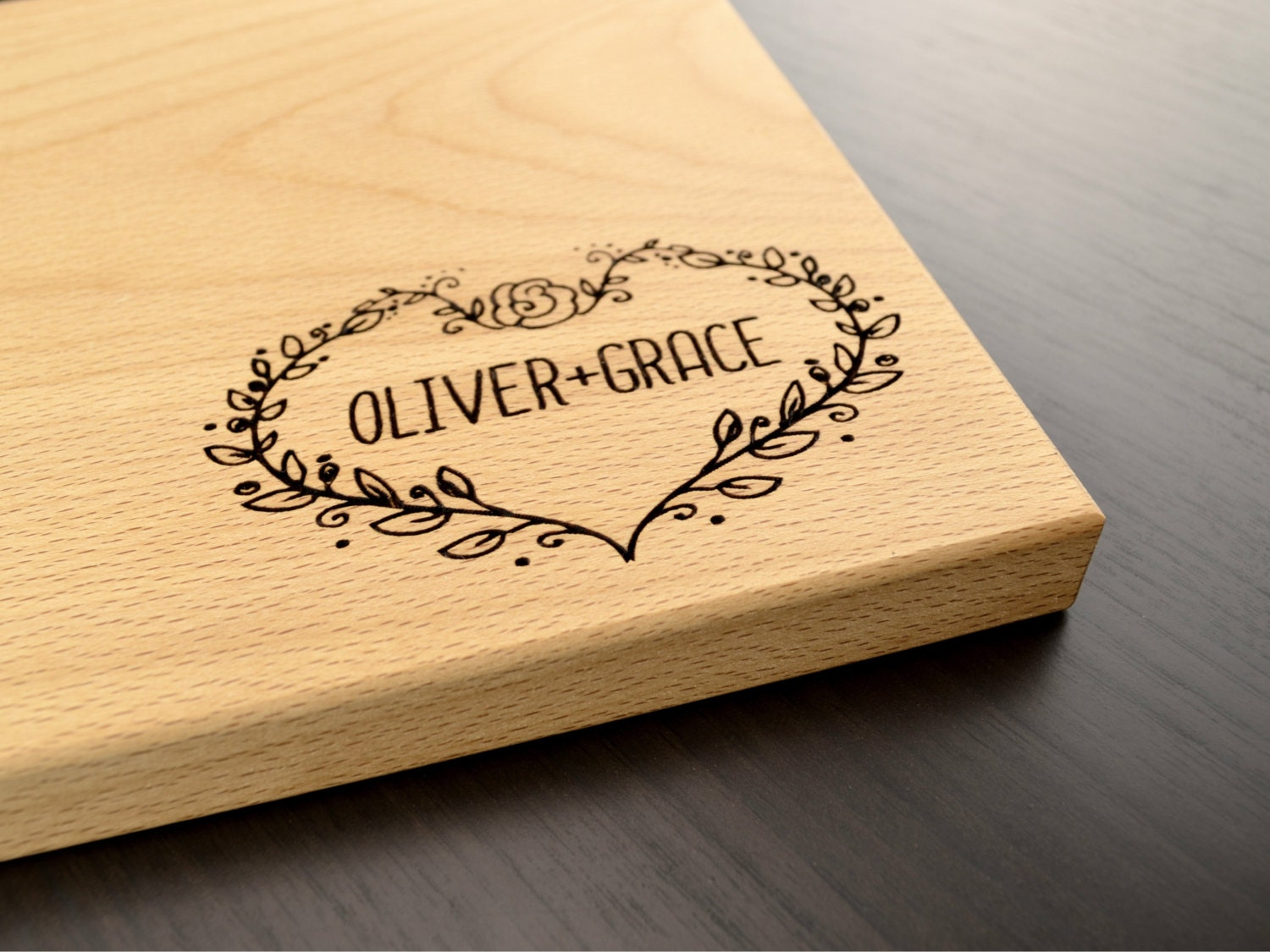 Engraved Wood Cutting Board Personalized Wedding Gift