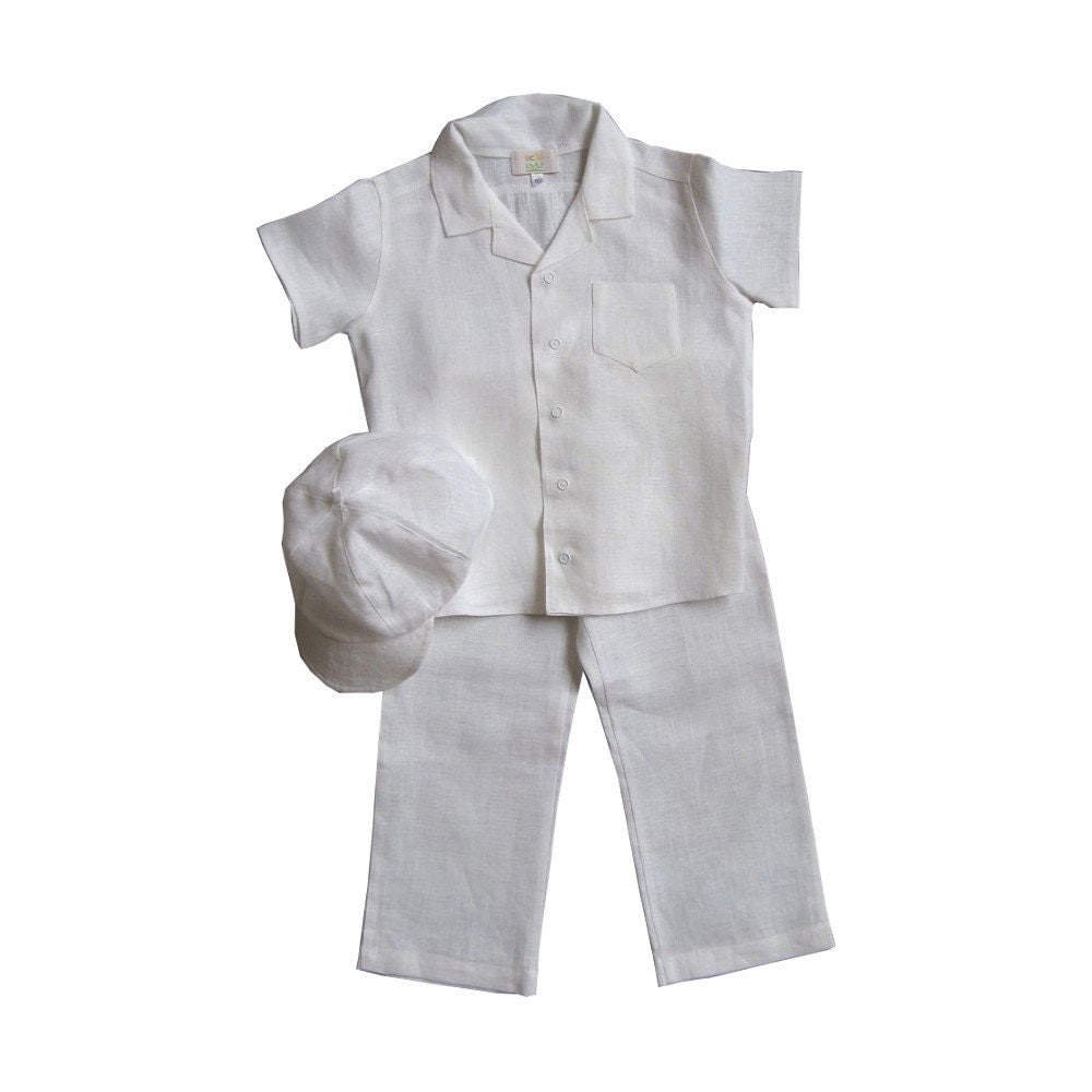 Boys Linen Vest Set 4-Piece Vest Set with Pants Shirt and Tie All Colors- Summer Wear- LInen. Boys SUIT WHITE Baptism or First Communion SUITS. $ Boys Suit BLACK Baby Toddler Children Teen Suit Any Color Tie. As low as: $
