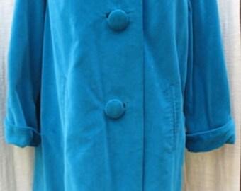 One Size VINTAGE CRESTMOOR 1950's Women's Velvet Overcoat
