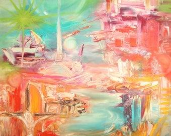 Contemporary European art landscape oil painting