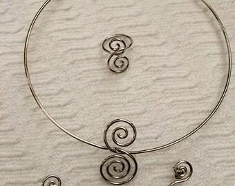 Silver-Toned Vintage Charm Bracelet