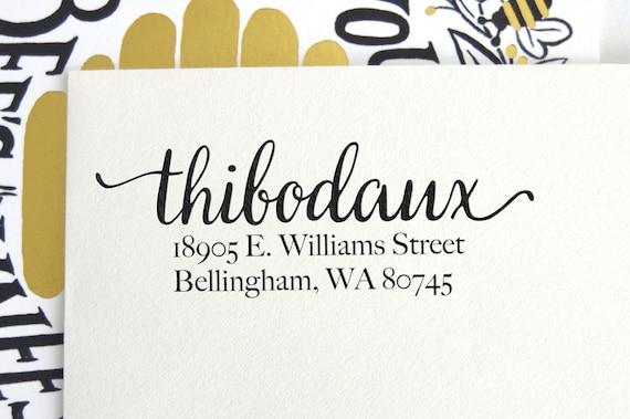 Items Similar To Custom Calligraphy Address Stamp Return