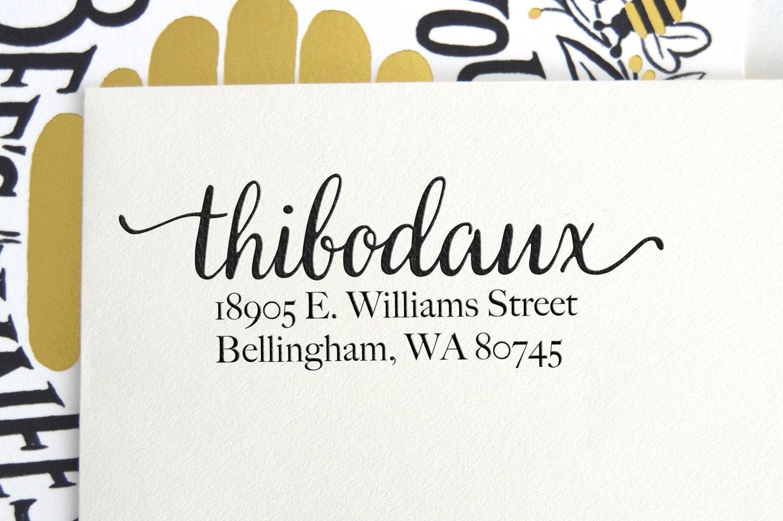 Custom Calligraphy Address Stamp Return Address By