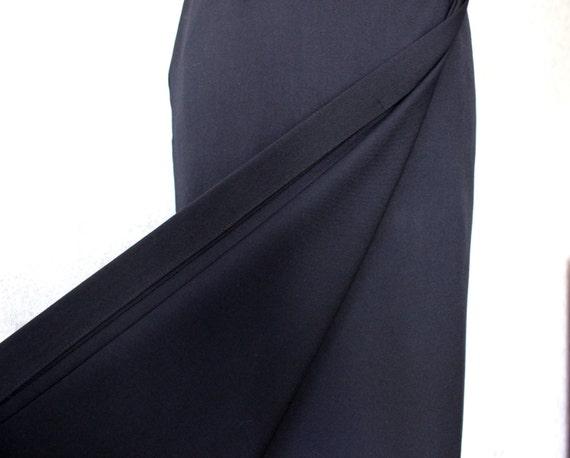 liz claiborne black pencil skirt maxi skirt by nextgemvintage