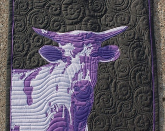 Ultraviolet Moo - Cow Quilt