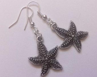 By The Sea Starfish Earrings , Star Fish Earrings , Shell Earrings , Beach Jewelry , Holiday Jewelry , Handmade Jewelry