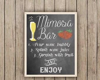 Mimosa Bar Sign 8x10 and 5x7