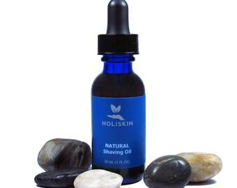 Natural Organic Shaving Oil - Pre Shave Oil for Men - Non Toxic Mens Shaving - Juniper Cedarwood Peppermint - Vegan Mens Grooming 1 fl oz