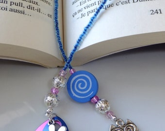 Bookmark with cute owl