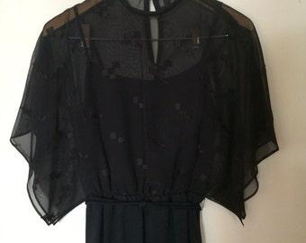 Vintage Black Toni Todd Dress