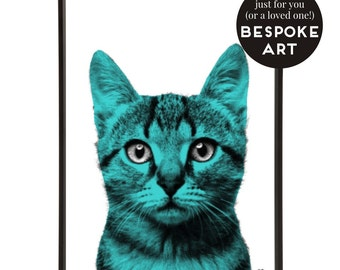 Bespoke Pet Portrait Pop Art Print