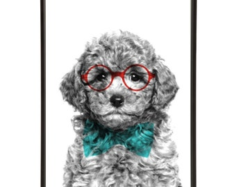 Smart Pooch Pop Art Print (Pup Art)