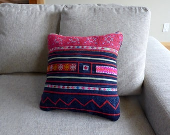 Vintage Hand Embroidered Pillow Cover #7