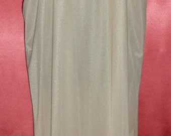 Vintage 1970's Nylon Petti Hem Peasant Gown Nightgown M