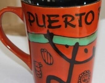 Puerto Rico Mugs Cup (Taina)/coffee mug/Taino symbol mug/Pueto Rico Souvenirs