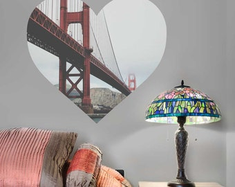 Left My Heart in San Francisco Wall Decal - Golden Gate Bridge Wall Decal by Chromantics