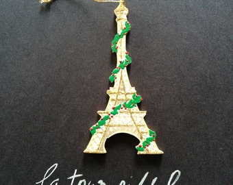 Handmade Eiffel Tower Ornament