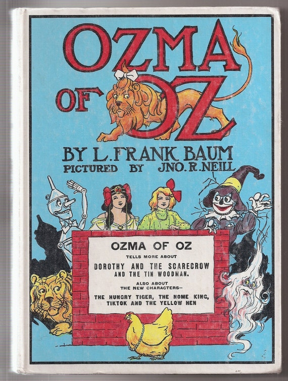Ozma of Oz L Frank Baum White Hardcover Book Reilly and Lee
