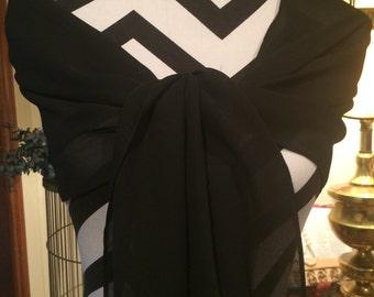 Black Shawl, Wrap.